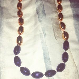 Jewelry - 3/$10 Navy and gold football necklace